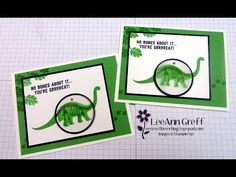 cardmaking video tutorial: 'No Bones about It' Dinasaur Interactive Card by the very talented LeeAnn Greff ... great design and useful tips too ..