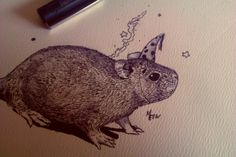 Rat drawing by Fergal O' Connor - 22 years old Irish artist   Visit www.studentartworks.com