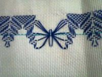 Huck Embroidery / Punto Yugoslavo / Swedish Weaving / Bordado Vagonite Más