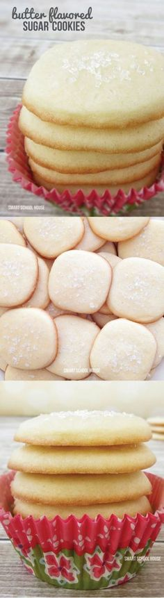 Butter Flavored Sugar Cookies. Awesome dessert recipe!