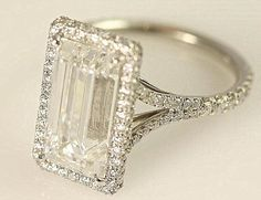 Emerald Cut Diamond engagement ring -