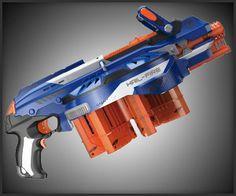 Nerf Hail-Fire Blaster: 144 dart, 8-clip capacity