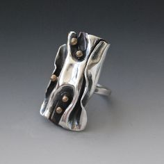 Silver Folded Ring