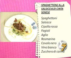 Our Spaghettone Fabbri recipe with Cinta Senese sausages...as seen on TV!