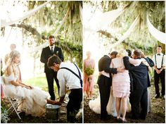 Beautiful. The wedding ceremony under the tree. And the foot washing ceremony.
