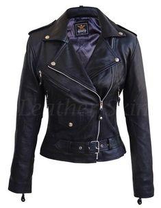 Leather Skin Women Black Brando Genuine Leather Jacket - All About Leather Skin, Black Leather, Leather Collar, Black Biker Jacket, Tom Ford Leather Jacket, Jackets For Women, Clothes For Women, Nice Clothes, Women's Clothes