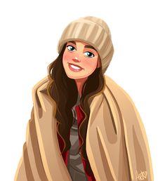 Illustration of Masha:) on Behance Cute Girl Drawing, Cartoon Girl Drawing, Girl Cartoon, Cartoon Drawings, Girly Drawings, Art Drawings Sketches, Mode Poster, Cartoon Kunst, Digital Art Girl