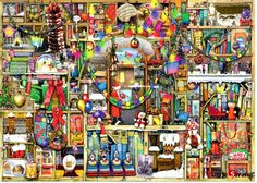 "Jigsaw Puzzles 1000 Pieces ""Christmas decoratio"" / Colin Thompson / Ravensburger #Ravensburger"
