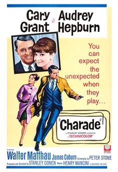 Charade  Classic Movie Poster Print   Home Theater by jangoArts, $19.50