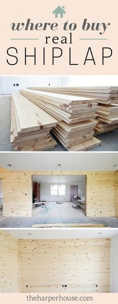 Home Decor Inspiration : Are you stumped on where to buy real shiplap? Im sharing our sources today Home Renovation, Home Remodeling, Buy Shiplap, Fixer Upper Shiplap, Shiplap Siding, Shiplap Boards, Shiplap Wood, White Shiplap, Wood Paneling