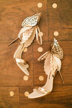 unique wedding shoes - photo by Haley Sheffield Photography event and floral design by Juli Vaughn Designs http://ruffledblog.com/bright-modern-NYC-wedding