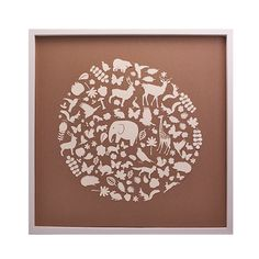 "Original ""Animals of the World"" Collage - such a sweet wall art piece for the nursery or kids room! #PNshop"