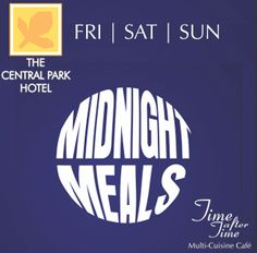 Midnight Meals at Time after Time, The Central Park Hotel, Pune  #Deals #offers #Pune  To buy the offer click on the image.