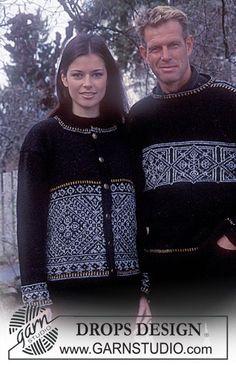 DROPS trøje med nordisk mønster i Silke-Tweed ~ DROPS Design