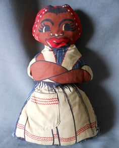 c1930s Black Americana Mammy Doll Stuffed with Rags $ 40