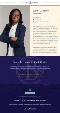 Attorney Biography Legal Web Design Law Firm Web Design