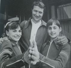 Nadia Comaneci, Teodora Ungureanu and Bela Karolyi, gold triangle