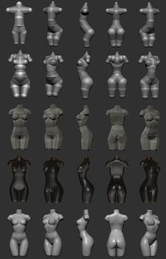 Zbrush: Creating woman torso from Zspheres step by step technique by Sze Jones