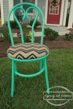Ugly bar stools can be transformed to super cute!
