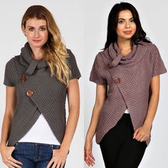 BOGO 50% Cowl neck open sweater So warm and perfect for fall and winter! Available in charcoal and mauve. PLEASE DO NOT BUY THIS LISTING. Comment with your size and color and I'll make you a new listing  Sweaters Cowl & Turtlenecks