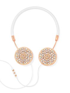 """FRENDS teamed up with BaubleBar to """"put a bauble"""" on our Layla headphones and caps! In this one-of-a-kind set, BaubleBar jewels are perfectly scattered within r"""