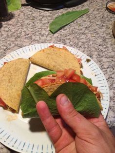 2.) When eating tacos, use lettuce as a delicious safety net.