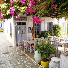 Love the lilac doors and chairs. The magic is in the Mediterranean light though. Unfortunately it prob wouldn't translate in the uk