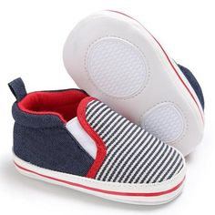 5ba37e3337fe Raise Young Canvas Baby First Walkers Striped Cotton Soft Soles Toddler  Girl Sneakers Infant Boy Footwear Newborn Shoes 0-18M