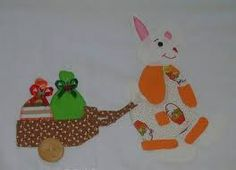 coelhos de pascoa para pano de prato - Google'da Ara