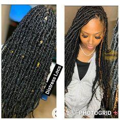 Box Braids Hairstyles For Black Women, Faux Locs Hairstyles, Twist Braid Hairstyles, Baddie Hairstyles, Braids For Black Hair, Black Hairstyles, Girl Hairstyles, Human Braiding Hair, Unique Braids