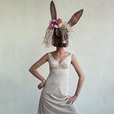 Dress Photograph - A Woman Wearing A Rabbit Mask by Gianni Penati