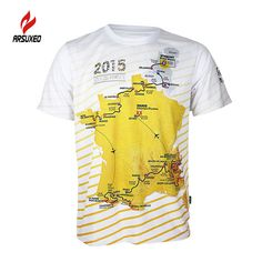 5c217dce3 Arsuxeo Tour de France men cycling Jersey bike bicycle Jersey short sleeves  quick dry breathable jerseys