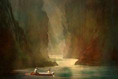 'Light to Eternity' von Marie Luise Strohmenger bei artflakes.com als Poster oder Kunstdruck $19.41