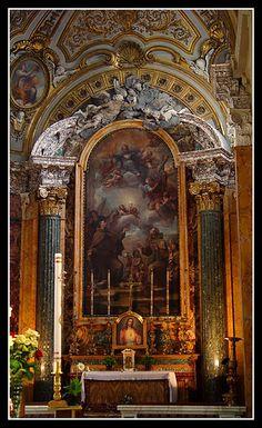 San Francesco A Ripa Roma Italia. Altar, Roman Church, Great Works Of Art, Gothic Furniture, Church Interior, Interesting Buildings, Gothic Architecture, Renaissance Art, World Cultures