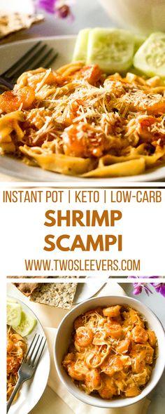 Shrimp Scampi | Seafood Recipes | Pasta Recipes | Instant Pot Recipes | Keto Recipes | Low Carb Recipes | Shrimp Recipes | Dinner Recipes | Lunch Recipes | Best Shrimp Scampi | Two Sleevers | #twosleevers #shrimpscampi #instantpot #keto #lowcarb