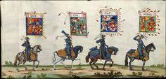 Albrecht Altdorfer (c. 1480 -1538), Hans Burgkmair (1473-1531), Albrecht Dürer (1471-1528) & others — Triumphal Procession, 1517 (1440x692)