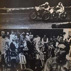 Houston Astrodome flat track 1968 Gary Nixon with the #1 plate