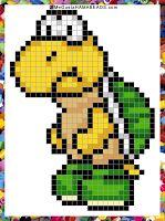 Patrones Hama Beads Paper Mario Nintendo 64 parte 1