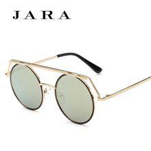 c7393f61747b19 JARA New Vintage Gothique lunettes de Soleil Rondes Hommes Steampunk  Sculpture Fleur En Métal Cadre Revêtement