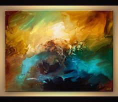 Abstract painting - contemporary abstract art modern painting #6304