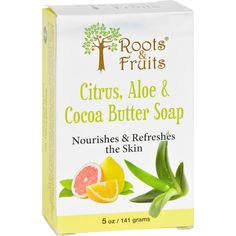 Roots And Fruits Bar Soap - Citrus Aloe And Cocoa Butter - 5 Oz