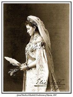 Grand Duchess Elizabeth Feodorovna photo c1897.