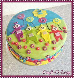 Craft-O-Logy: Teletubbie Cake Teletubbies Birthday Cake, Teletubbies Cake, 1st Birthday Themes, Birthday Cakes, Beautiful Cakes, Amazing Cakes, Dessert Quotes, Cake Kids, Girl Cakes