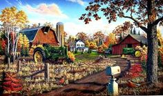 Paintings by Mark Daehlin | Art Gallery: Viewing Editions of Autumn Gold by Mark Daehlin