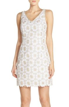 Lilly Pulitzer® 'Addy' Embroidered Lace Sheath Dress available at #Nordstrom