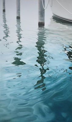 Contemporary art gallery featuring abstract expressionism, photorealism and glass sculpture Reflection Art, Water Reflections, Water Ripples, Watercolor Water, Water Art, Sea Art, Photorealism, Art Plastique, Oeuvre D'art