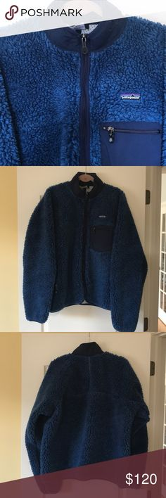 Men's XL Blue Patagonia Coat Men's Blue Patagonia Coat. Size XL. 100% polyester. Great condition. See photos. No trades. Patagonia Jackets & Coats Performance Jackets