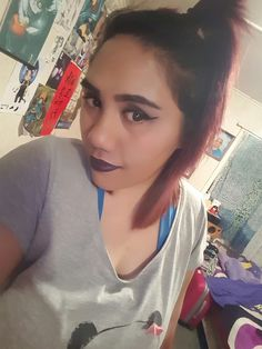 Dark purple black lip combo