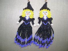 Brinco de bruxinhas em beadwork