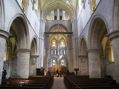 The nave facing east, the late Norman church of the Hospital of St Cross and Almshouse of Noble Poverty, Winchester, England | Flickr - Phot...